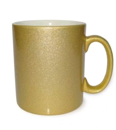 Golden sparkle mug